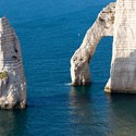 "Étretat. Chalk cliffs. Author's tour ""Paris - Normandy - Brittany"" on a weekly basis."